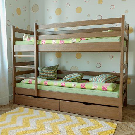 Двухъярусная кровать Засоня деревянная массив ольха ДОСТАВКА БЕСПЛАТНА