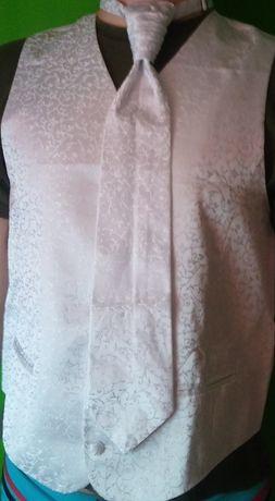 kamizelka ślubna i krawat