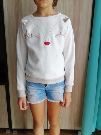 """Polarkowa bluza  """"renifer"""" dla dziewczynki r. 128, Cool Club."""