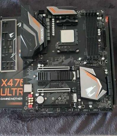 Vendo motherboard x470 aorus ultra gaming + ryzen 5 2600x