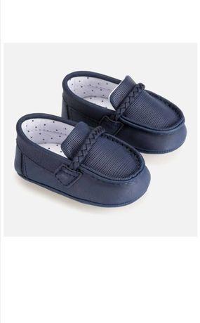 Mokasyny chłopięce eleganckie buty dziecięce chrzest rozmiar 15