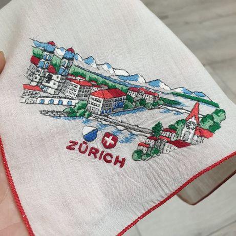 Zurich, винтажный батистовый платочек