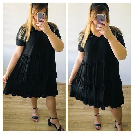 Sukienka Roma plus size duży rozmiar rozkloszowana na lato 48-52