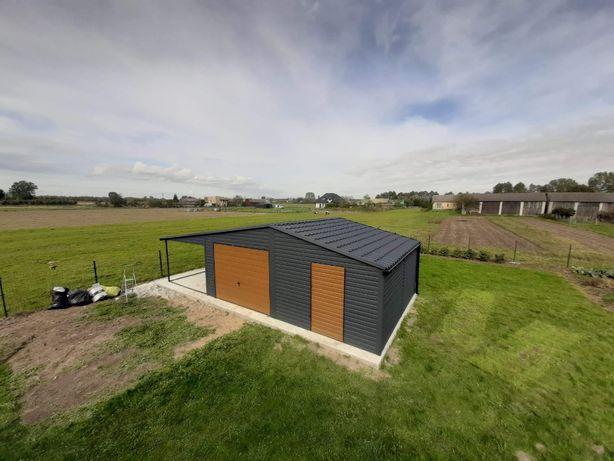 blaszak garaż na budowę schowek garaż blaszany konstrukcja stalowa 3x4