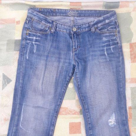 Dżinsy Jeans jeansy House of Denim 14 / 42 dziury dziurawe