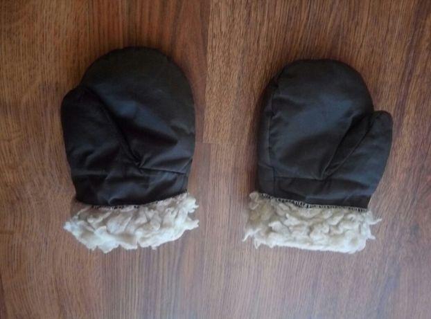 Варежки на меху теплые зимние рукавицы на мальчика 5-7 лет