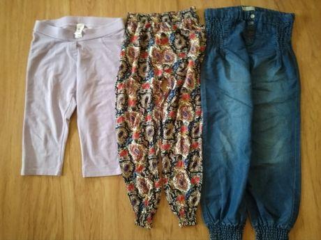 Spodnie cienkie spodenki r. 134 3szt.