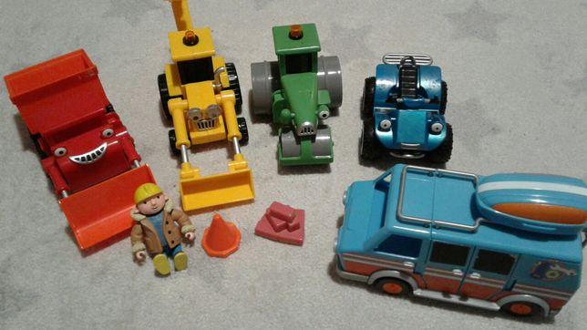 Mega Zestaw Bob budowniczy auta koparka spychacz walec kamper bus