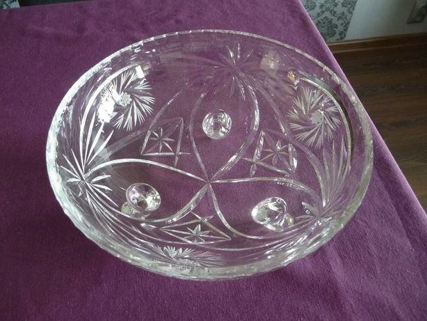 Piękna misa kryształowa średnica 26 cm wysokość 10 cm