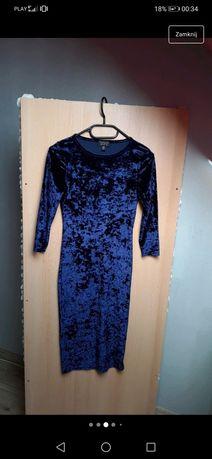 Sprzedam nową welurową sukienkę s 36