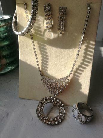 Biżuteria damska kolia srebrna z cyrkoniami