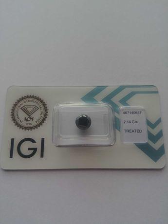Чорний діамант з офіційним міжнародним сертифікатом IGI/ бриллиант