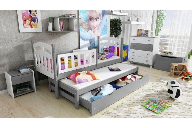 Łóżko dziecięce parterowe wysuwane 2 osobowe Nati - Mebel Bogart