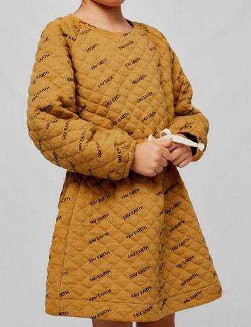 Zara, оригинал шикарное стеганое платье, размер 140 на 9-10 лет