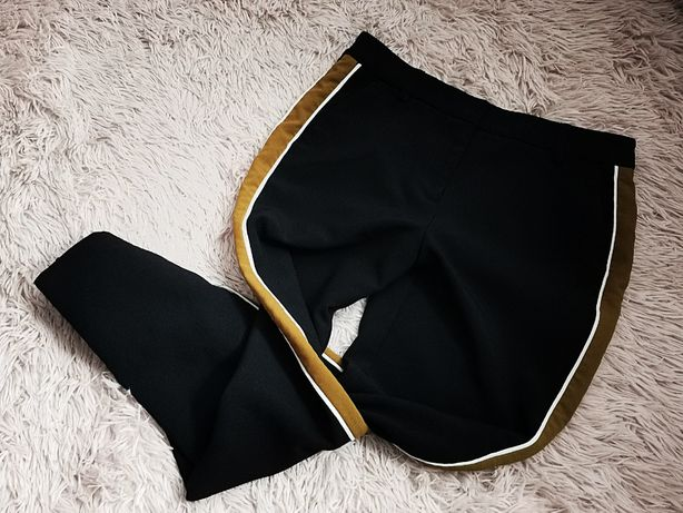 Spodnie lampasy eleganckie proste M&S