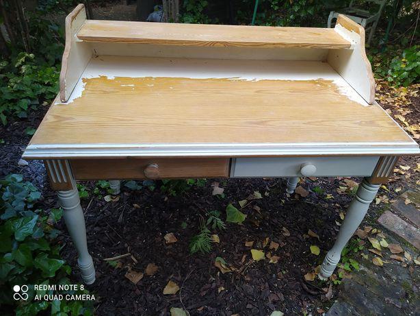 Sekretarzyk/ Toaletka piękny drewniany mebel / Konsola / biurko/