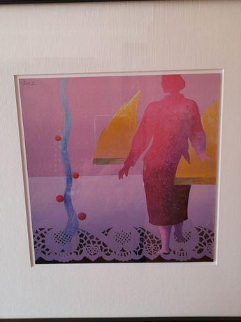 Quadro original do pintor Alfredo Luz. Acrilico sobre cartão.