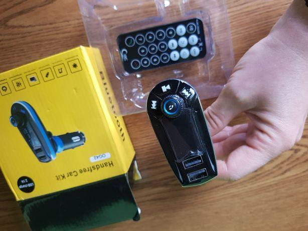 Transmiter bluetooth na fm odczyt usb, bluetooth, jack 3,5mm