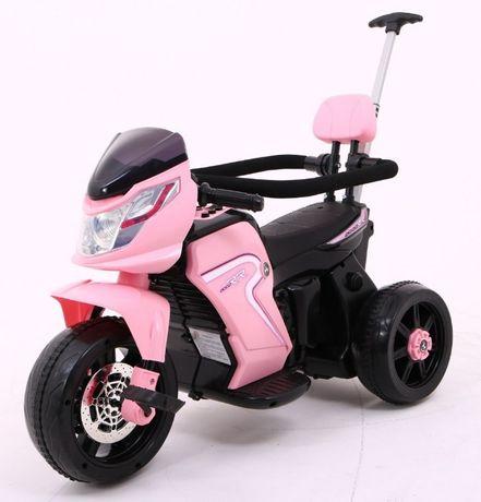Motorek Rowerek Pchaczyk na akumulator Różowy