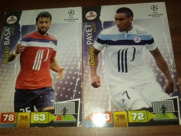 LILLE karty piłkarskie kolekcjonerskie Panini Champions League 2011/12