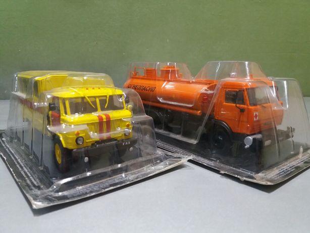 Коллекция. ГАЗ-66 и КАМАЗ-5320. Авто на службе. Масштаб 1:43.