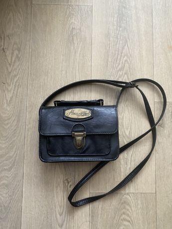 стильная винтажная мини сумка сумочка 19х14см Черная