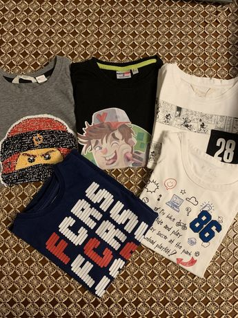 T- shirt, koszulka Minecraft , ninjago, FC, biala Myszka Miki 128 -134