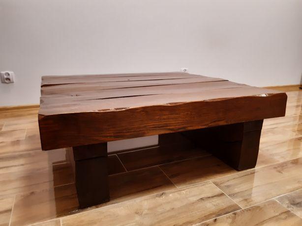 Unikatowy piękny stół stolik ława drewniany