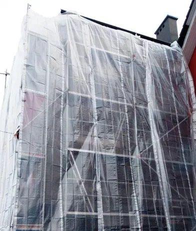 Folia Osłonowa Bezbarwna PLANDEKA NA RUSZTOWANIE ZBROJONA 4x10m 170g