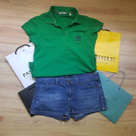 ADIDAS спортивная футболка поло шорты OGGI в подарок  500 ₽