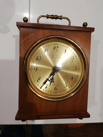 Zegar Retro Quartz Weimar złoto drewno stan bdb
