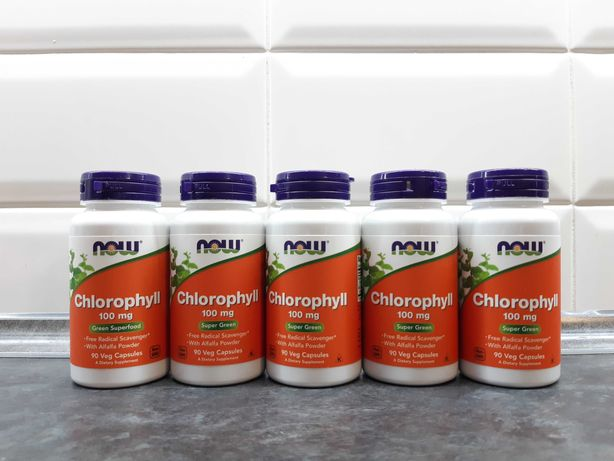 Now Foods, Chlorophyll (90 капс.), хлорофилл, хлорофіл