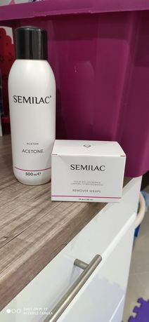 Semilac aceton i folia do ściągnięcia hybrydy