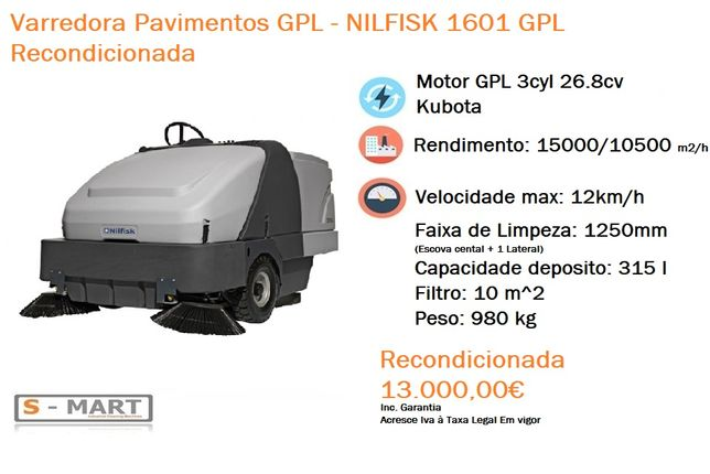 Varredora Pavimentos Nilfisk 1601 GPL