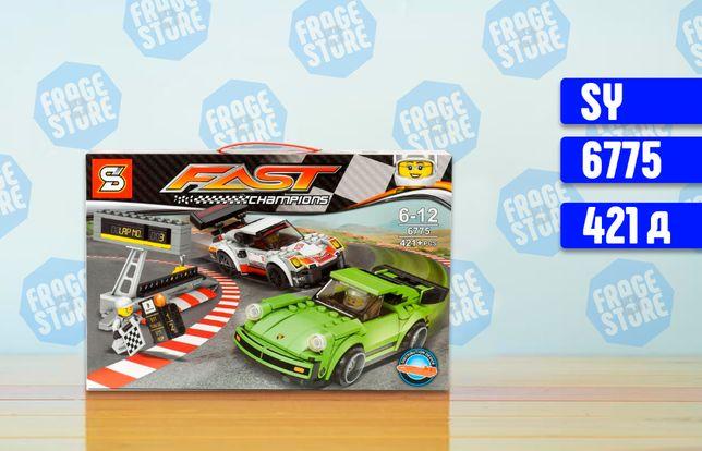 "Конструктор SY 6775 ""Гонка Porsche 911 RSR и 911 Turbo 3.0, 421 д лего"