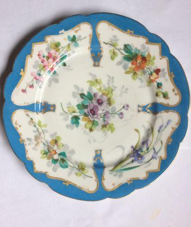 Тарелки с ручной росписью Франция 19 век редкость