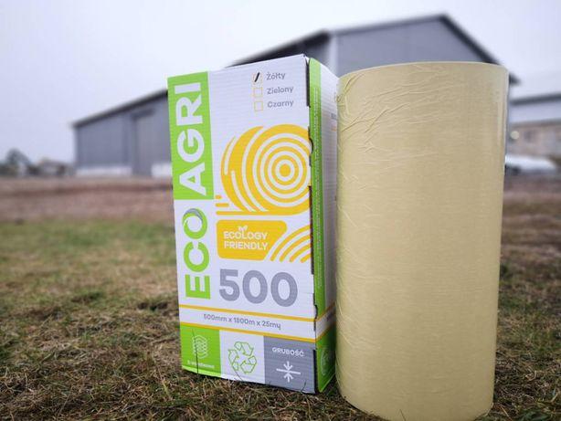 Folia do sianokiszonki Ecoagri 500/750 mm, żółta