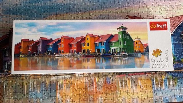 """Puzzle 1000 Trefl """"Panorama Groningen, Holandia"""""""