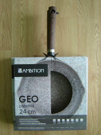 Zestaw dwóch nowych patelni AMBITION Geo 24 i 28 cm patelnia INDUKCJA