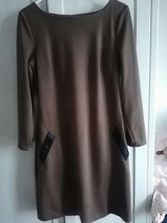 Sukienka brązowa L40 na jesień