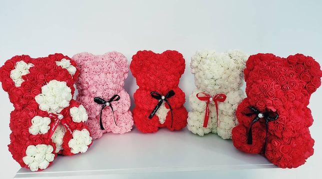 Miś z róż,pachnący,prezent,dzień kobiet PROMOCJA ostatnie sztuki