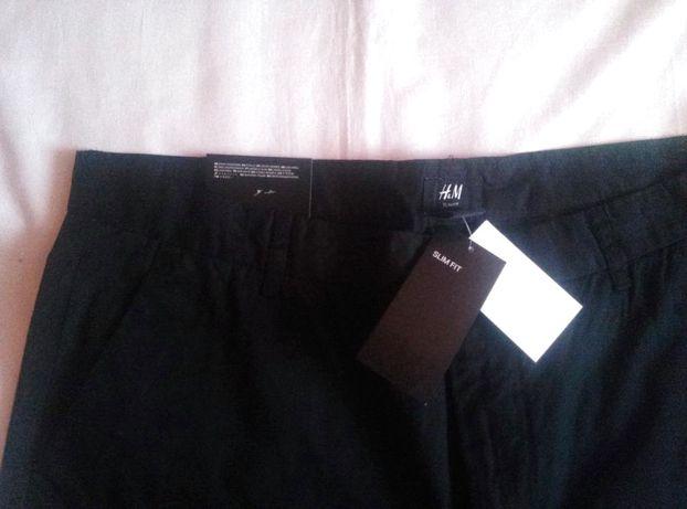 Nowe czarne spodnie męskie HM Premium Chino 54 XL slim levis superdry