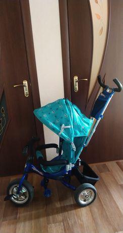 Детские велосипед с родительской ручкой трёхколёсный