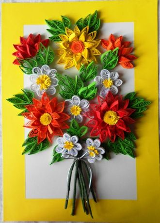 Картина Подкова Цветы Маки Васильки Ромашки Поделка Весна Украина