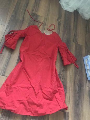 Czerwona sukienka zara 36