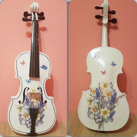 Скрипка декупажна сувенірна