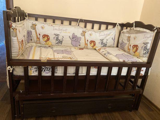 Кроватка  Кузя для малыша Бук Венге