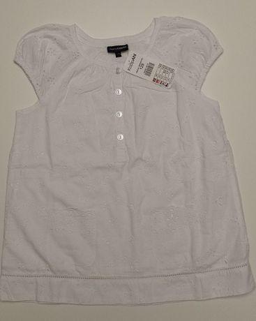 Elegancka biała bluzka dziewczęca – KappAhl – r. 128 – Nowa, z metką