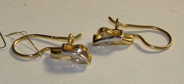 TANIO !! Złote kolczyki próby 585 14 karat - Firma Szafir-Wzór 437