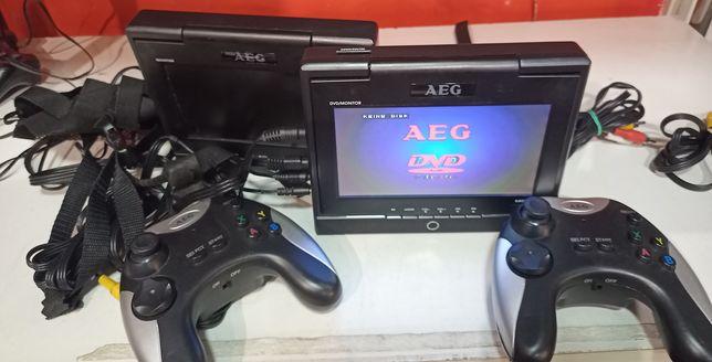 Przenośne DVD AEG 2 ekrany USB SD Gry
